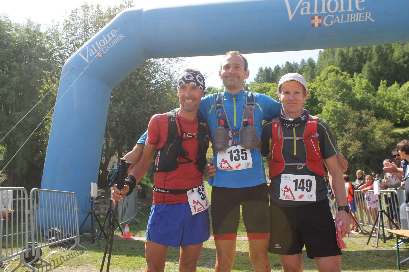 podium hommes du 46km - RESULTATS DU 9EME TRAIL DU GALIBIER (VALLOIRE 73) 20-08-2017