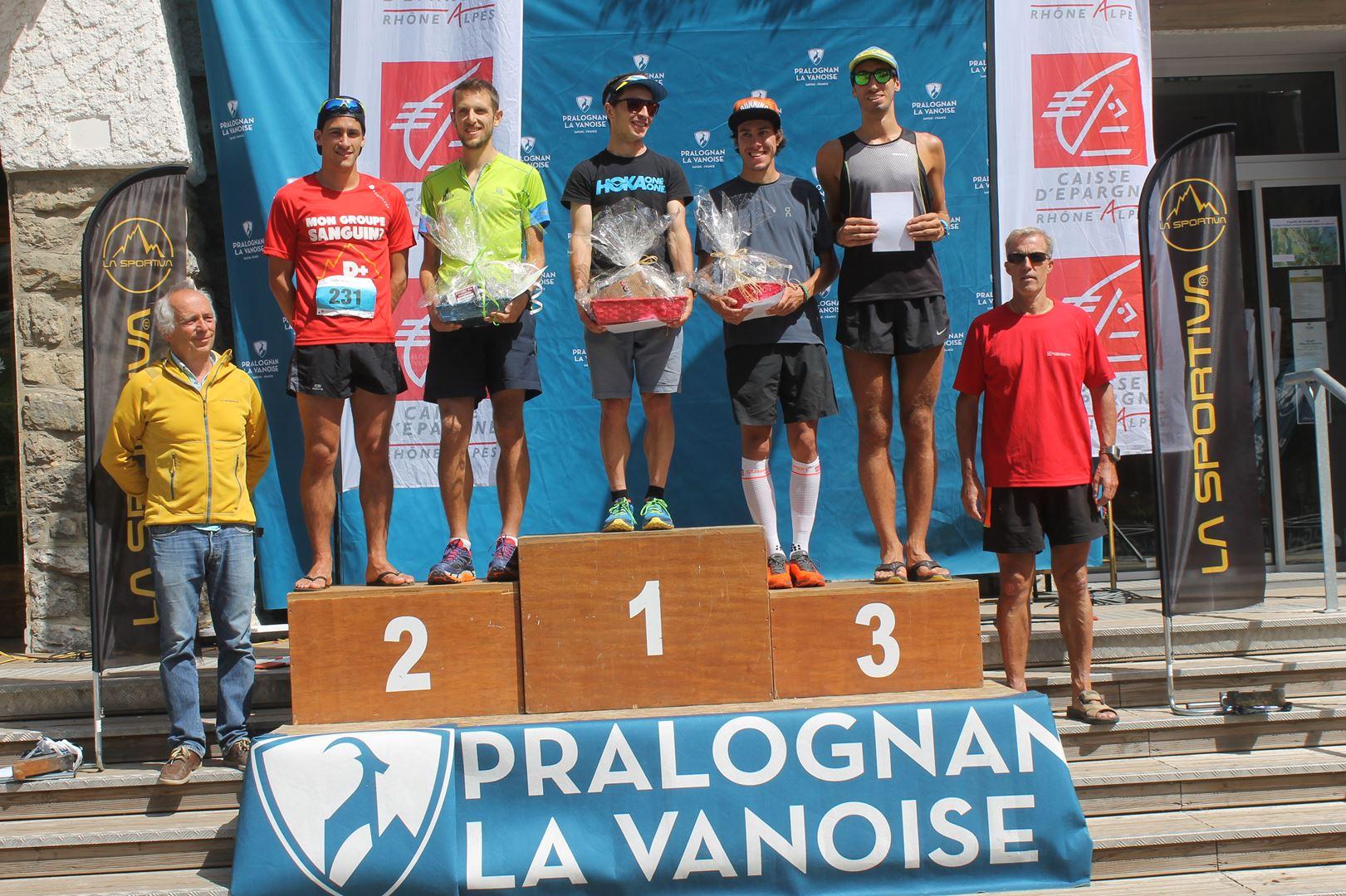 Podium hommes du 24km 1 - RESULTATS ET COMPTE RENDU DU TOUR DE LA GRANDE CASSE 27-08-2017 (PRALOGNAN-LA-VANOISE 73)