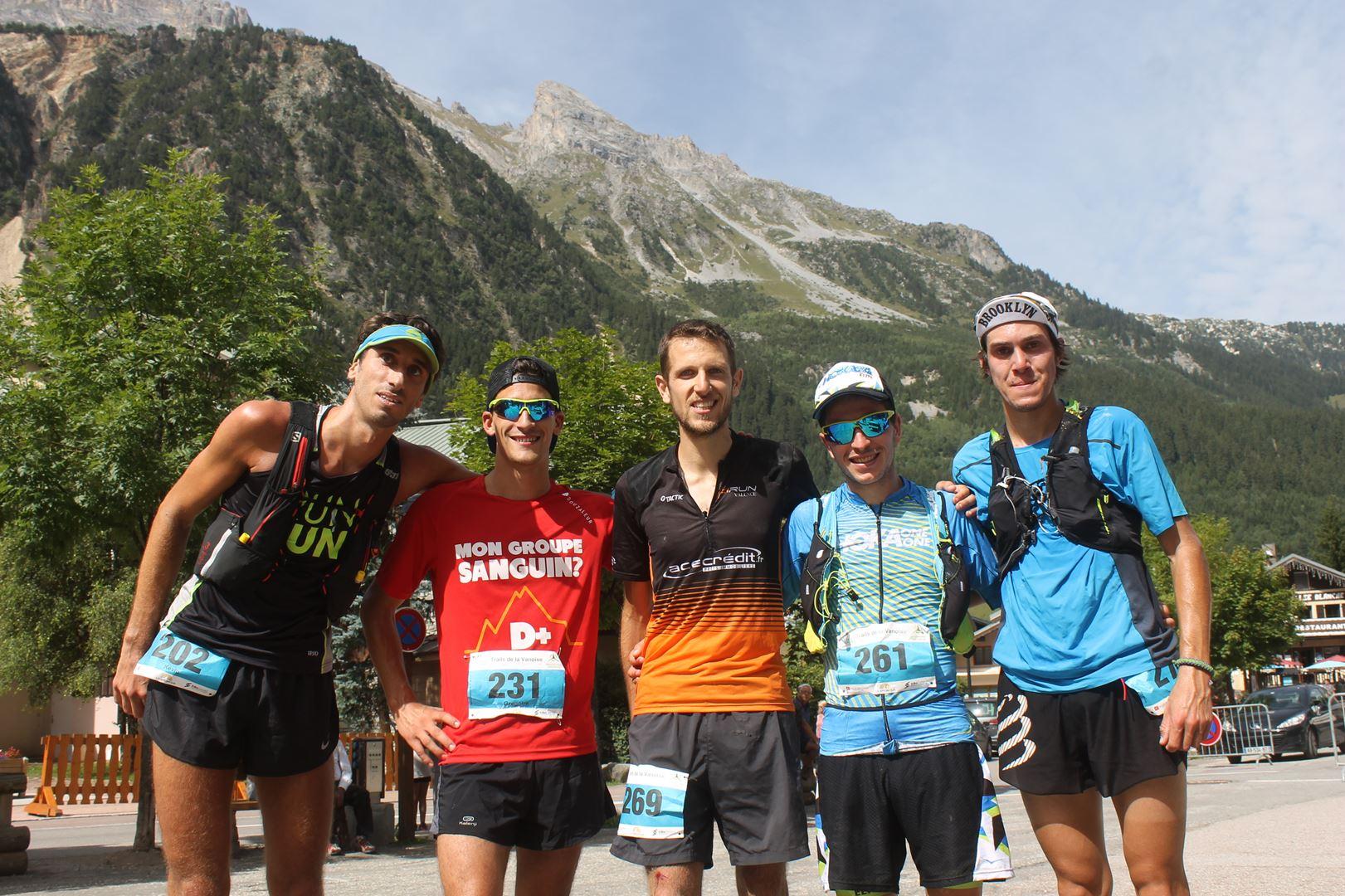 les 5 premiers hommes du 24km - RESULTATS ET COMPTE RENDU DU TOUR DE LA GRANDE CASSE 27-08-2017 (PRALOGNAN-LA-VANOISE 73)