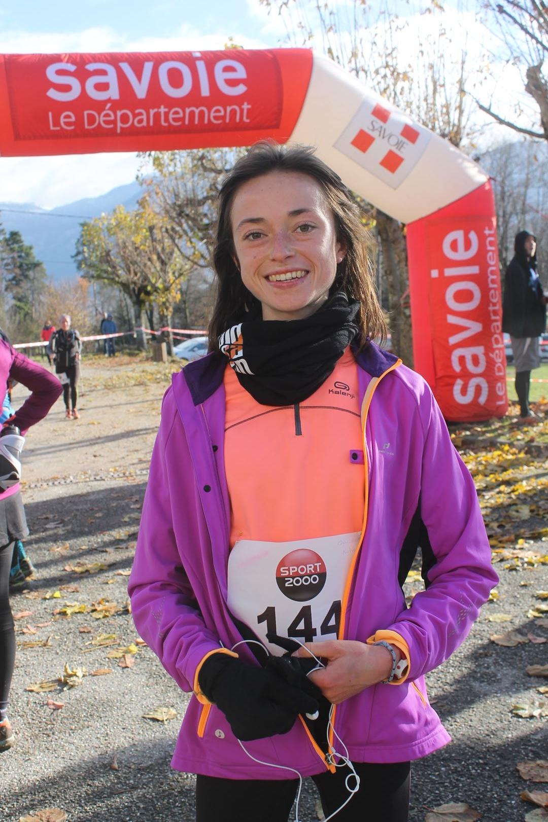 1ere femme du 23km e1512067558170 - RESULTATS ET COMPTE RENDU DE LA SANGERUN 26-11-2017 SAINT JEAN D'ARVEY (73)