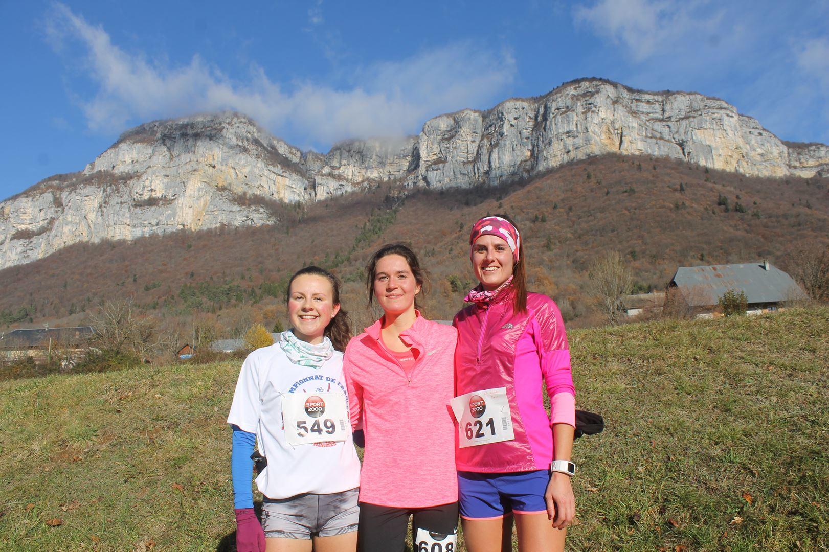 Podium féminin du 11km - RESULTATS ET COMPTE RENDU DE LA SANGERUN 26-11-2017 SAINT JEAN D'ARVEY (73)