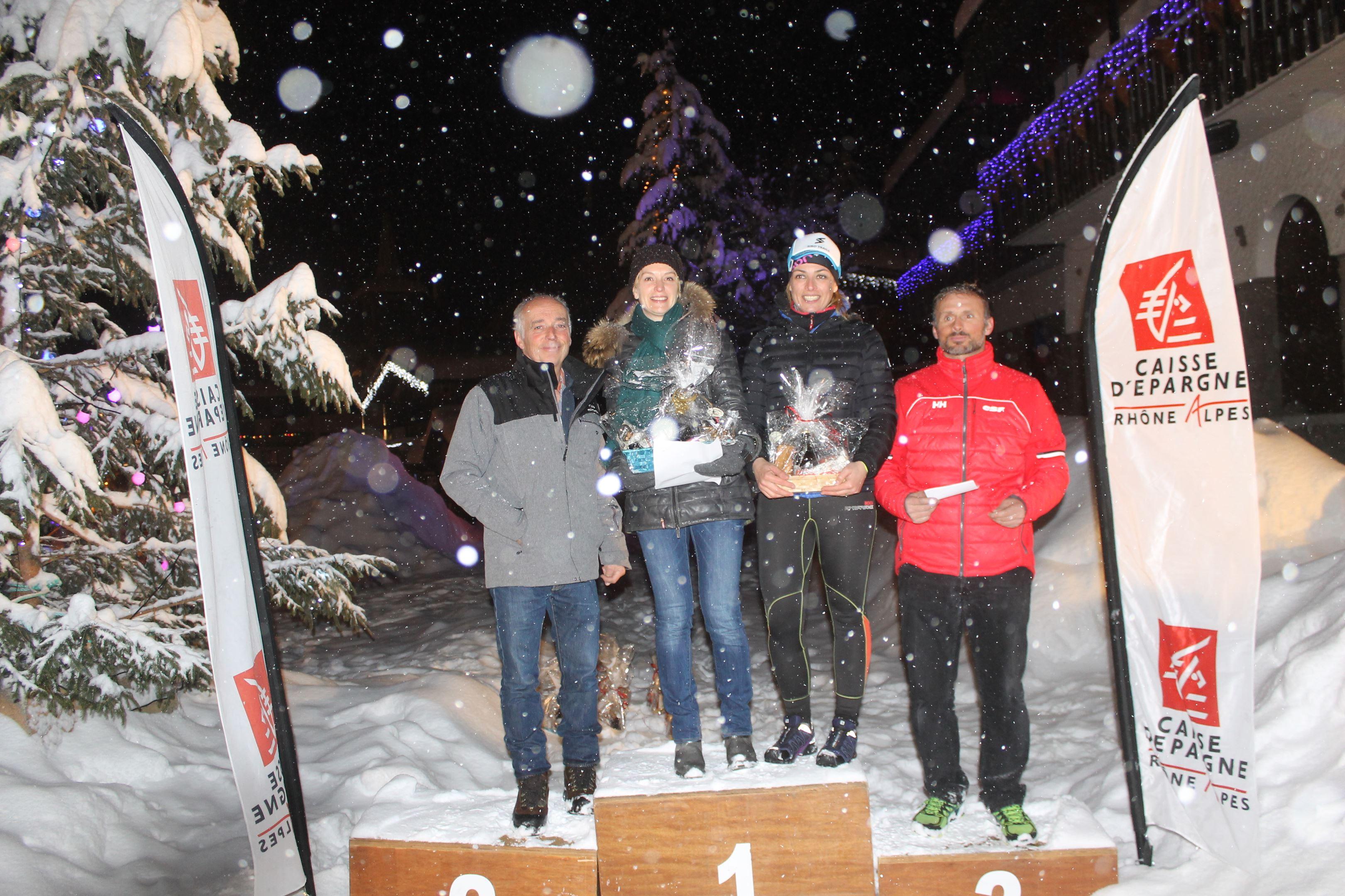 copie 0 podium filles du 7km - RESULTATS ET COMMENTAIRES DU TRAIL DE L'INUIT (PRALOGNAN-LA-VANOISE 73) 20/01/2018