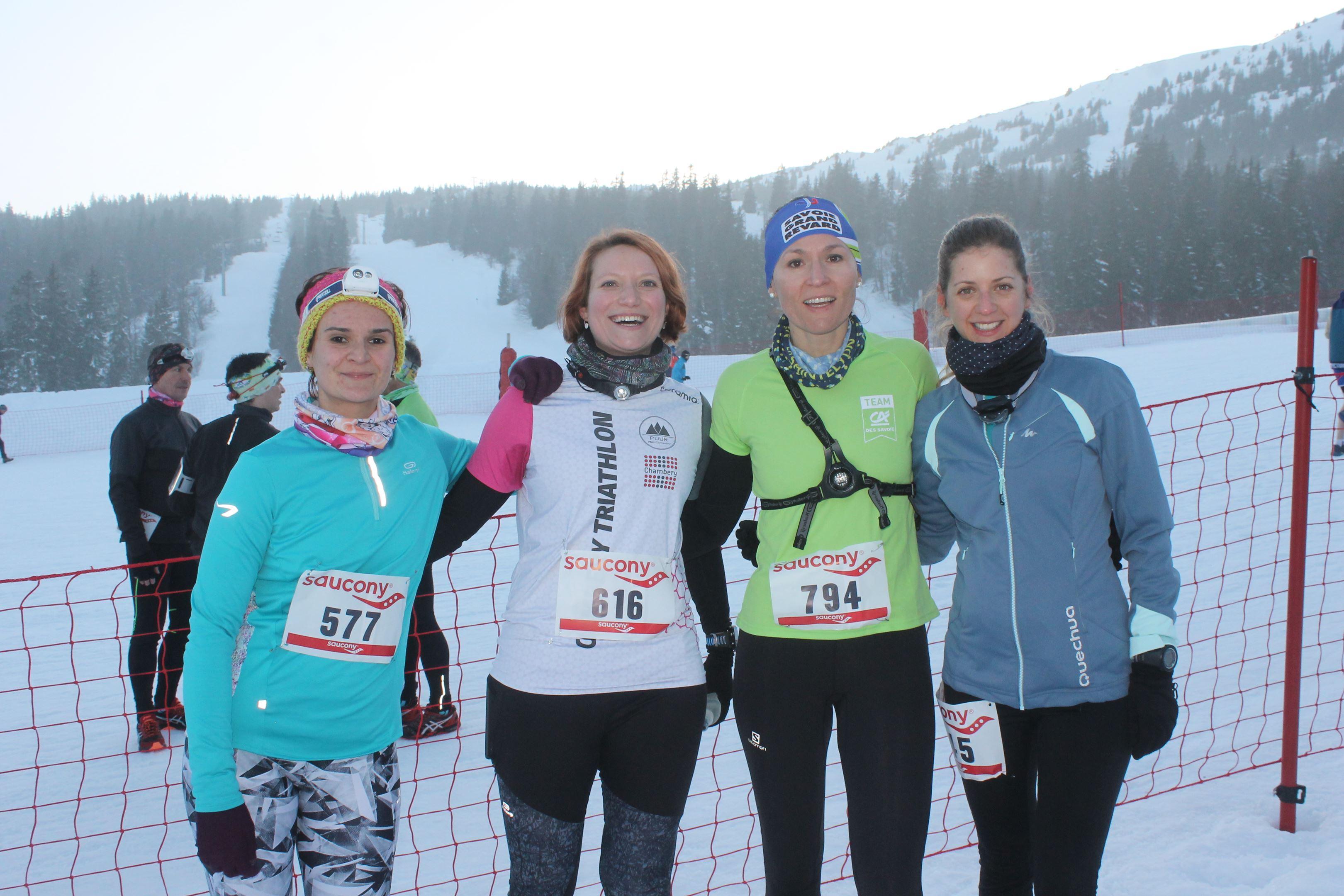 copie 0 les filles de chambéry triathlon - RESULTATS, PHOTOS ET COMMENTAIRES DU TRAIL DE LA FÉE BLANCHE (LES AILLONS MARGERIAZ 73) 24-02-2018