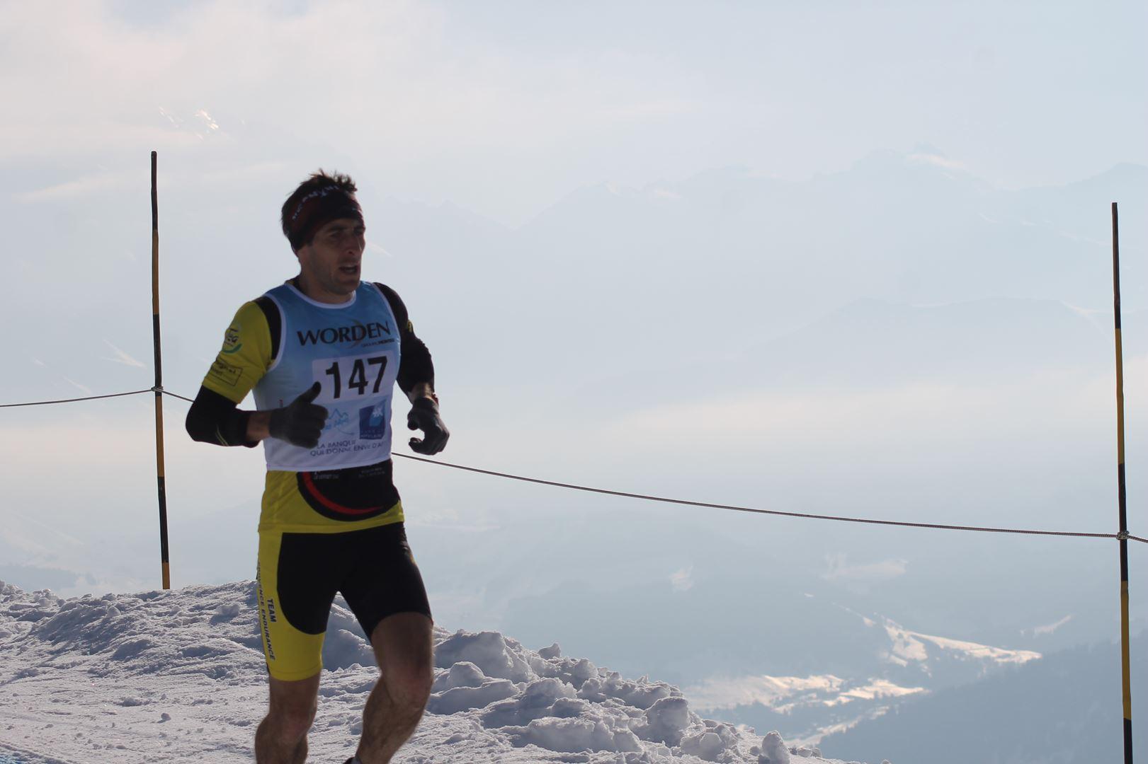 Edouard Laudier 2° Homme du 17km 1 - RESULTATS PHOTOS ET COMPTE RENDU DU 9EME ARAVIS SNOW TRAIL (La Giettaz73) 25-03-2018