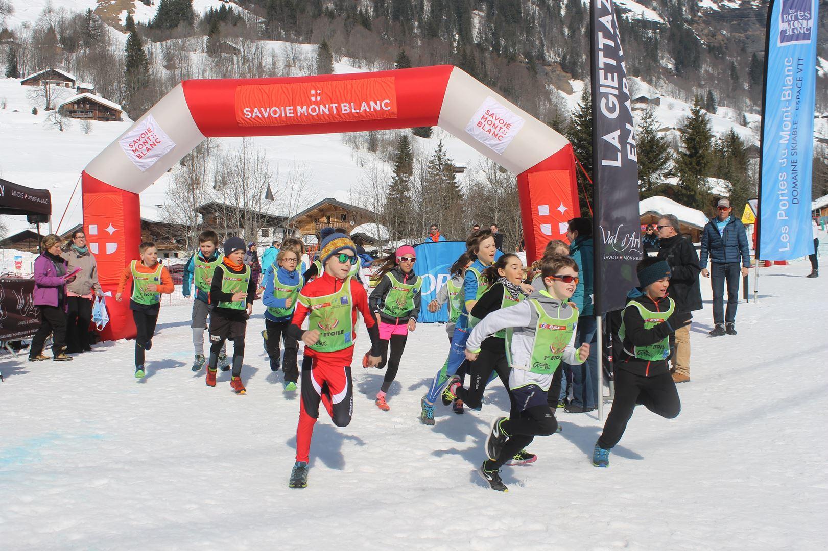 départ trail des croés 1 - RESULTATS PHOTOS ET COMPTE RENDU DU 9EME ARAVIS SNOW TRAIL (La Giettaz73) 25-03-2018