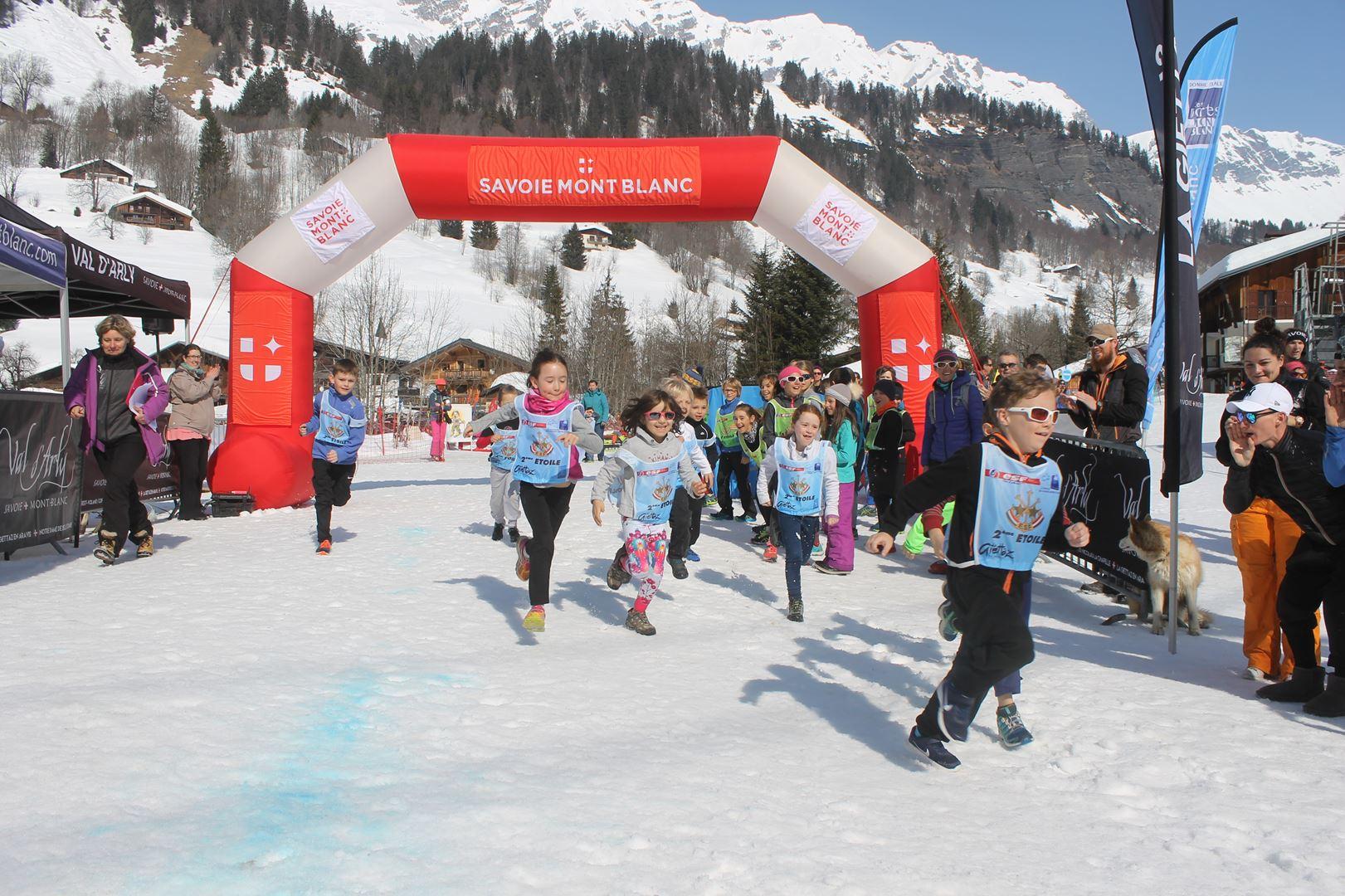 départ trail des croés petits 6 8 ans 1 - RESULTATS PHOTOS ET COMPTE RENDU DU 9EME ARAVIS SNOW TRAIL (La Giettaz73) 25-03-2018
