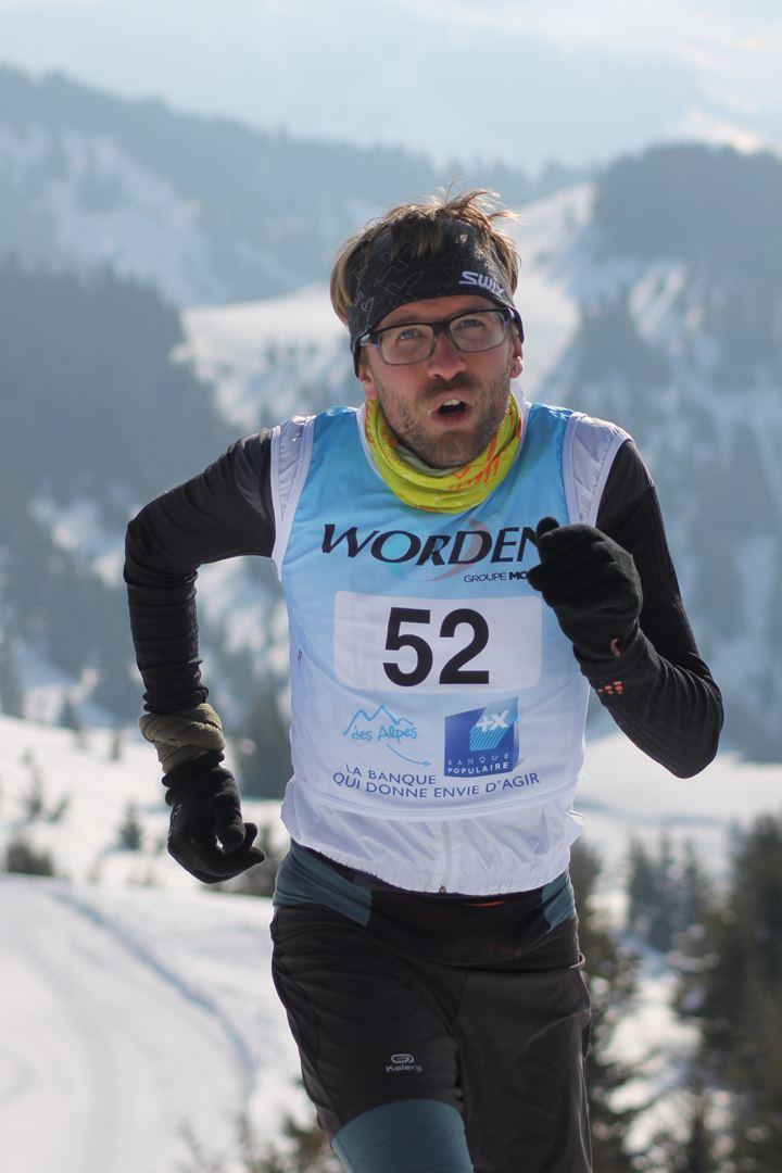 kévin Manon 2° homme du 12km - RESULTATS PHOTOS ET COMPTE RENDU DU 9EME ARAVIS SNOW TRAIL (La Giettaz73) 25-03-2018