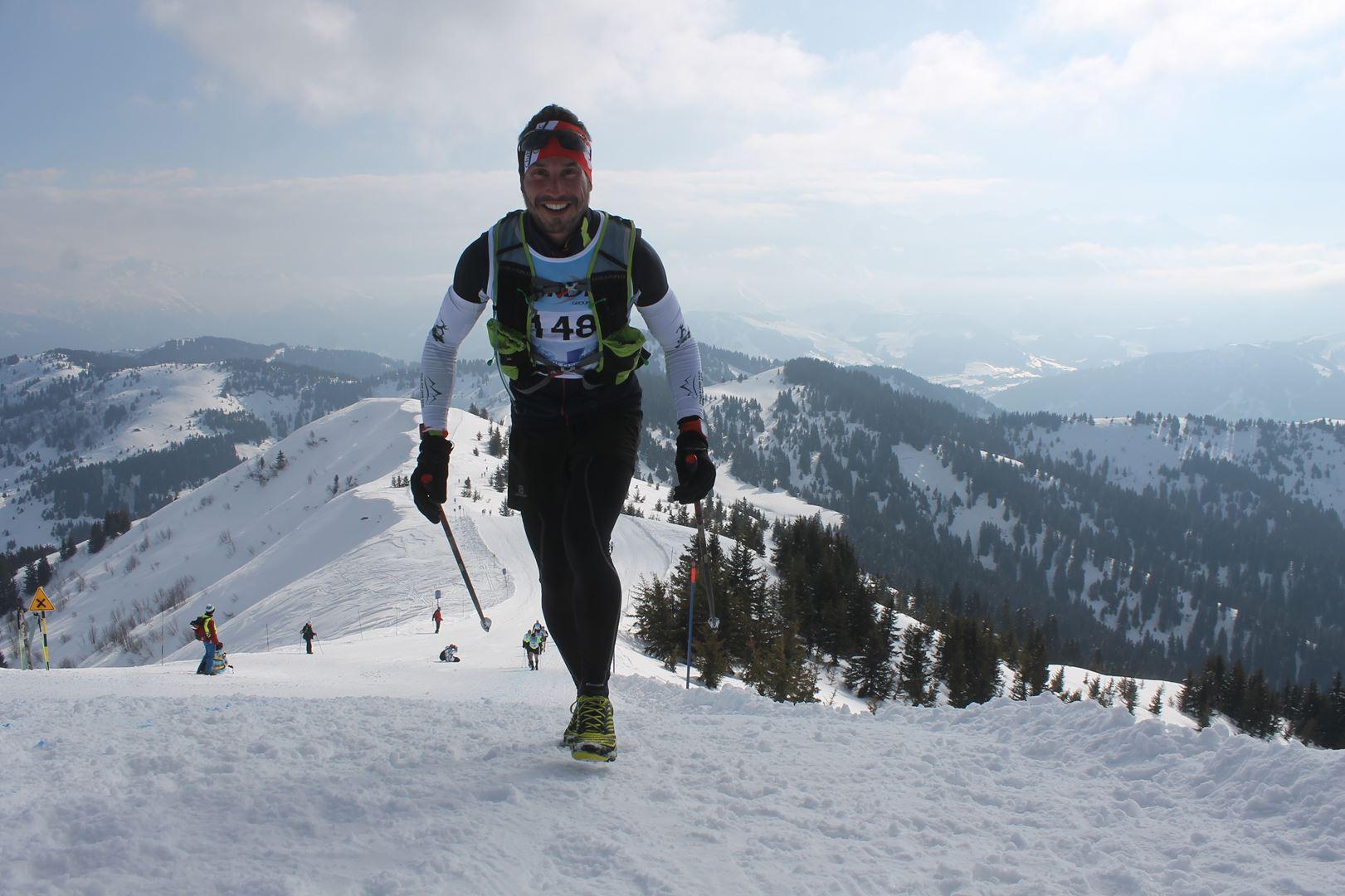 le sourrire au sommet 1 - RESULTATS PHOTOS ET COMPTE RENDU DU 9EME ARAVIS SNOW TRAIL (La Giettaz73) 25-03-2018