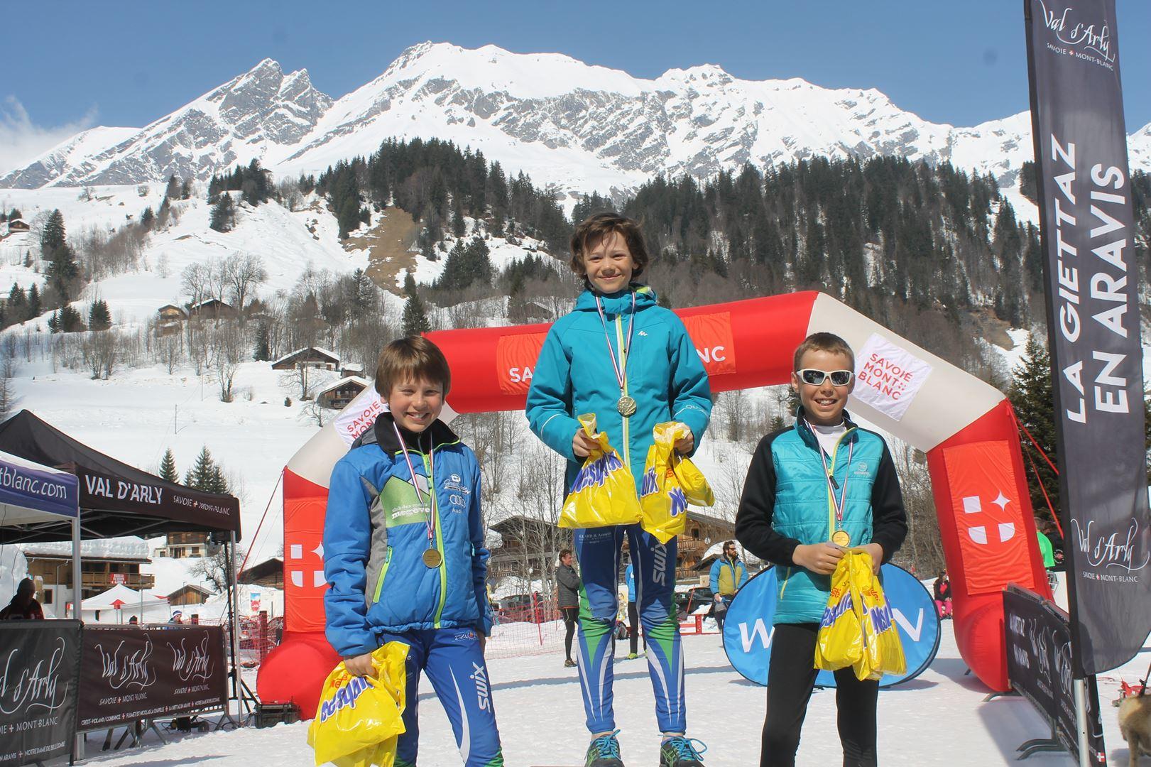 podium garçns trail des croés grands 1 - RESULTATS PHOTOS ET COMPTE RENDU DU 9EME ARAVIS SNOW TRAIL (La Giettaz73) 25-03-2018