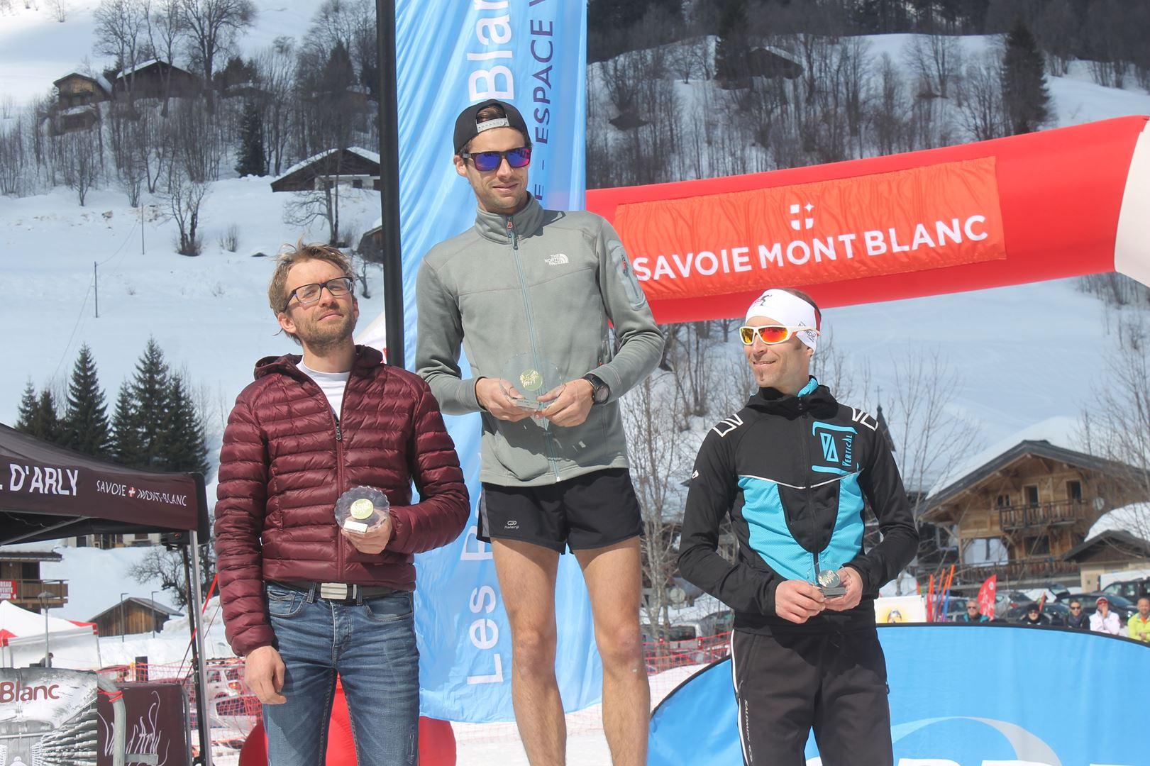 podium hommes du 12km 1 - RESULTATS PHOTOS ET COMPTE RENDU DU 9EME ARAVIS SNOW TRAIL (La Giettaz73) 25-03-2018