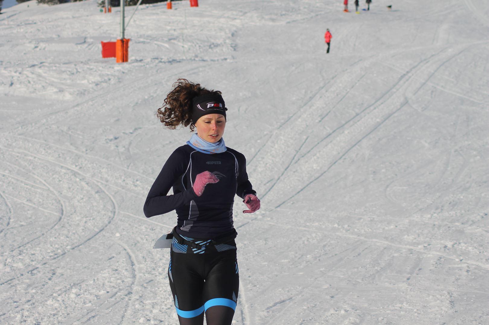 Céline Fauth 1ere femme du 8km - WITT: RESULTATS, PHOTOS ET COMPTE RENDU DU TRAIL BLANC DE CHAMROUSSE 01-04-2018