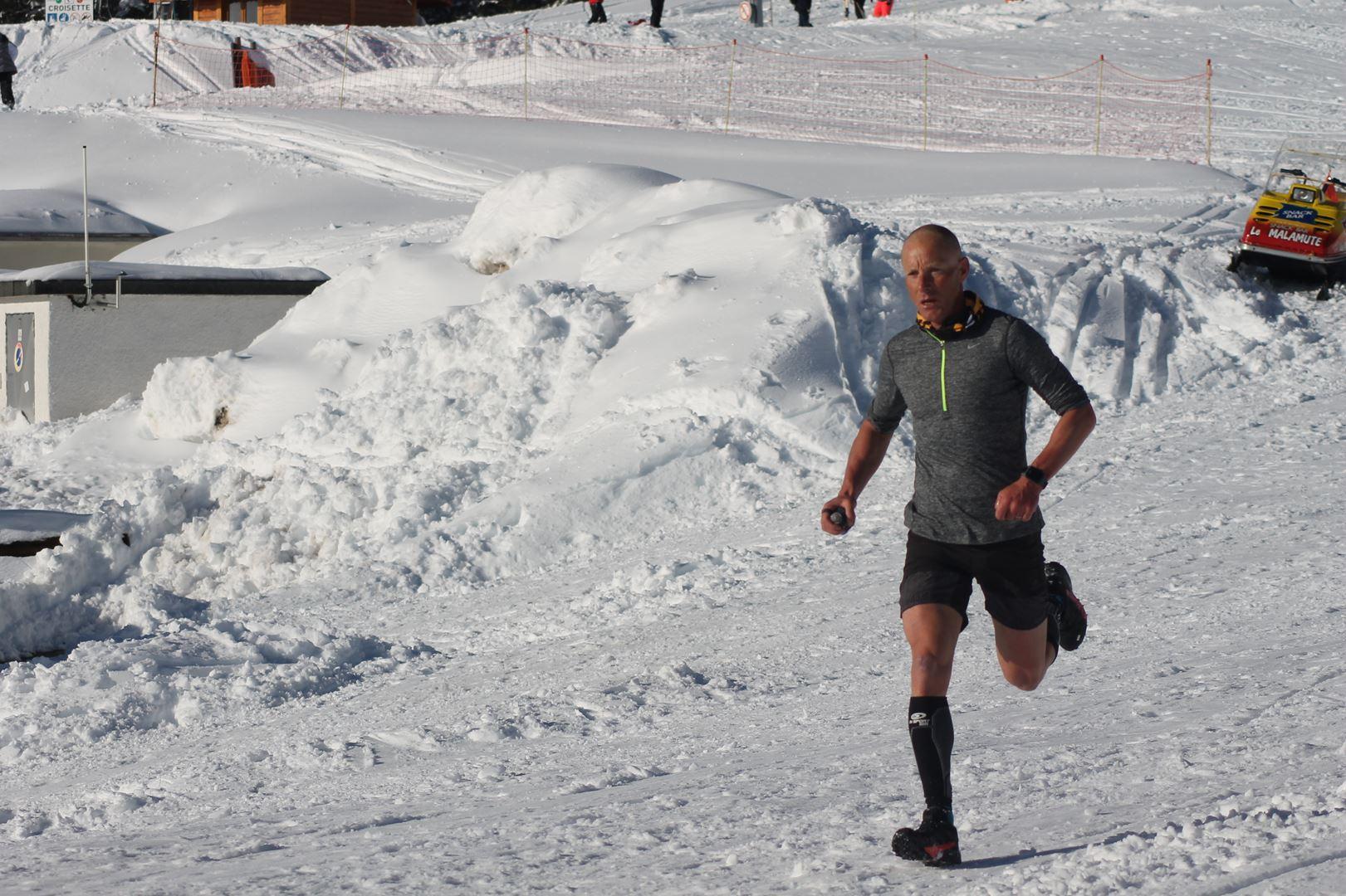Steeve Dobert 2ème homme du 16km - WITT: RESULTATS, PHOTOS ET COMPTE RENDU DU TRAIL BLANC DE CHAMROUSSE 01-04-2018