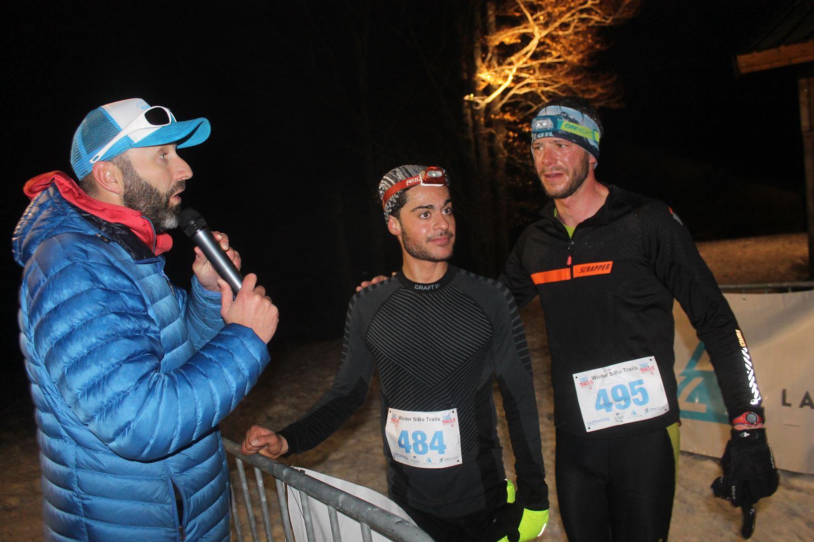 copie 0 arrivée des vainqueurs avec Silvère Bonnet - RÉSULTATS DU SIBO TRAIL BLANC LANS EN VERCORS (38) 02/03/2019