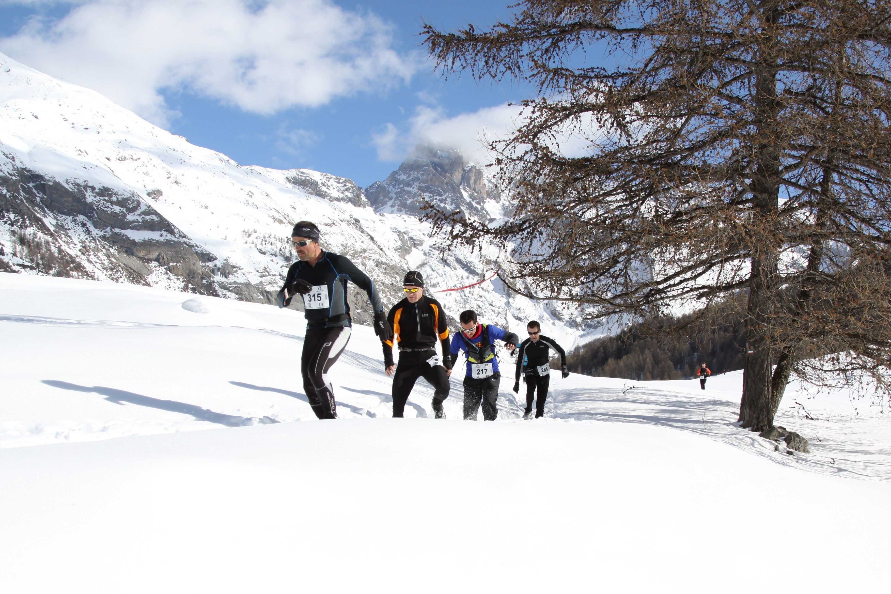 2 Ambiance snow trail Ubaye Salomon 2013 photo Robert Goin - Ce week-end le Winter Ubaye Trail Salomon !