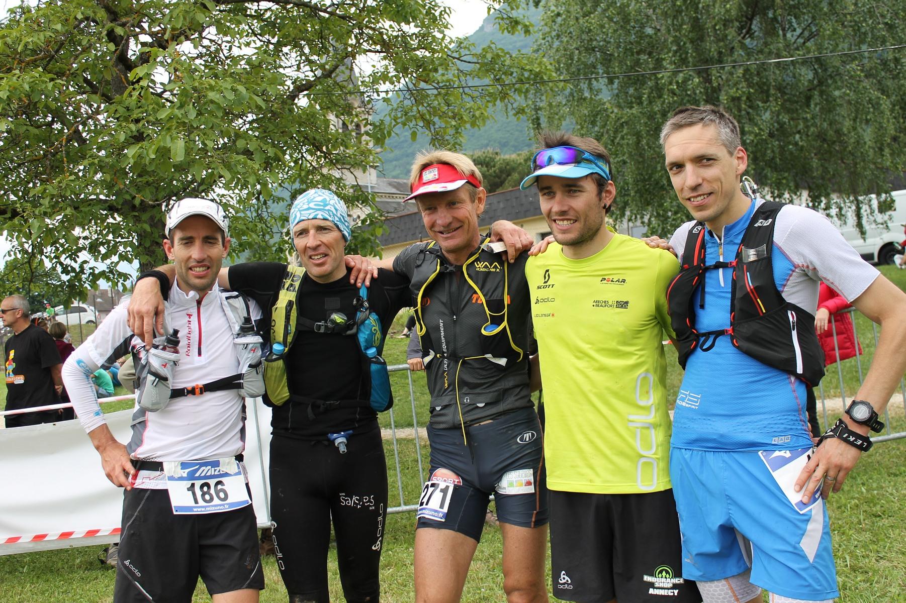 Les 5 premiers hommes du parcours long bis1 - GRAND RAID 73 / 23-05-15 : Résultats et reportage par Alexandre Garin