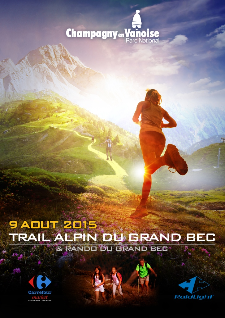 CHAMP TrailGrandBec2015 Flyer Recto - Trail alpin du Grand Bec à Champagny-en-Vanoise / 09-08-15