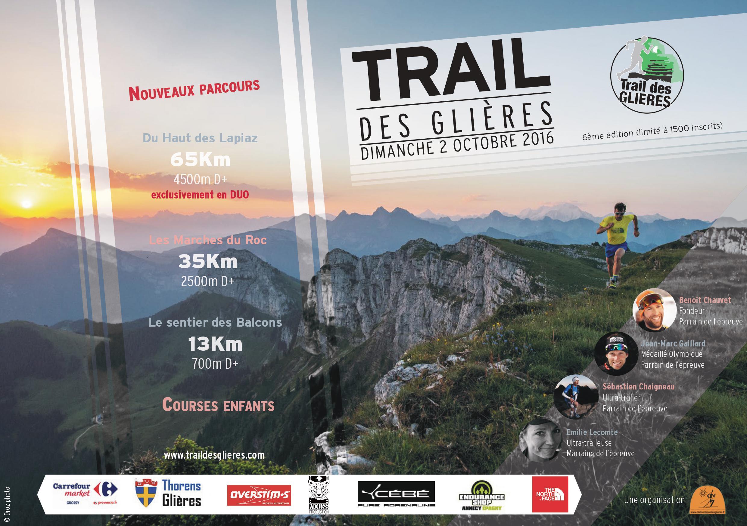 0001 - TRAIL DES GLIERES - 6ème édition le 2 octobre 2016