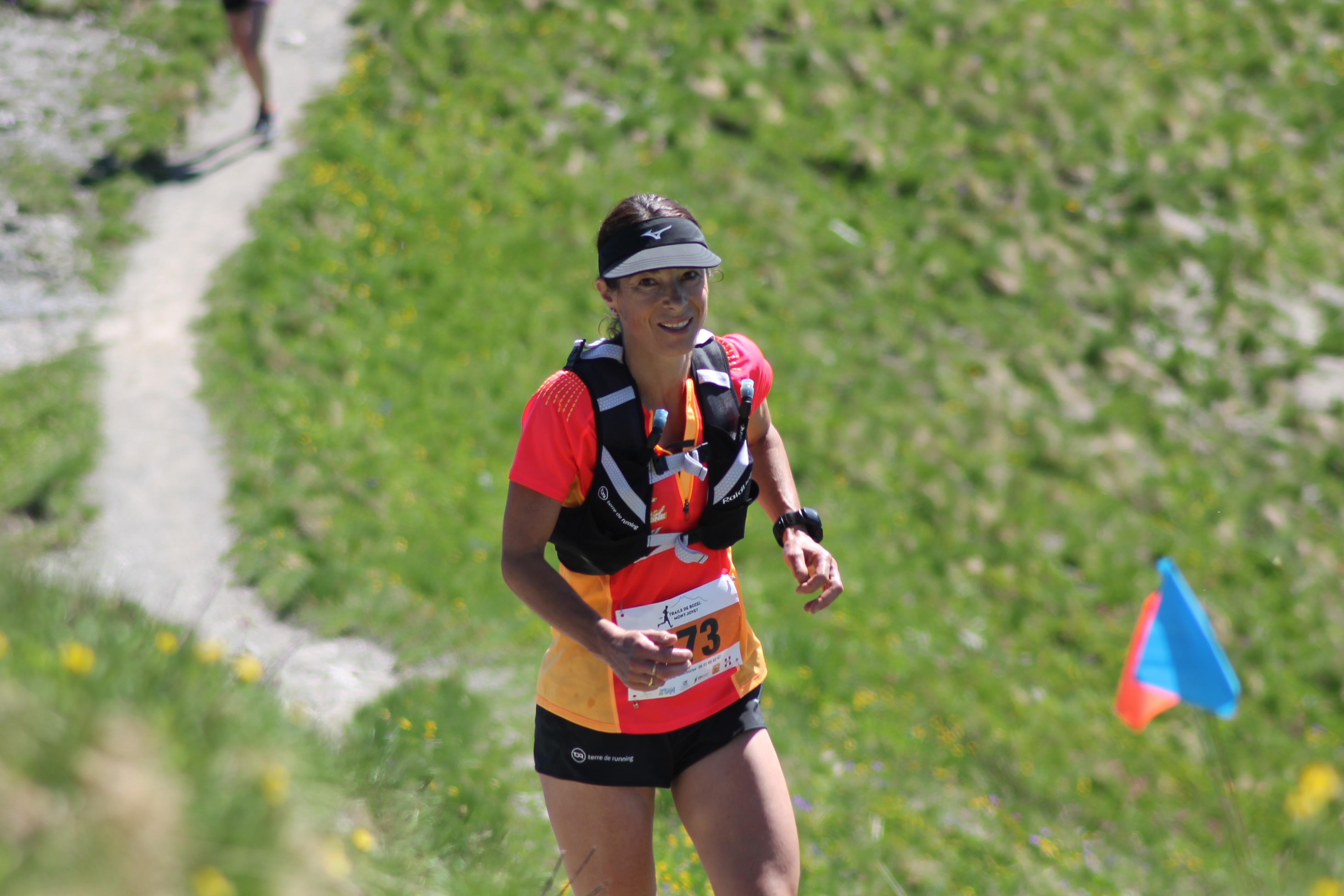 Stéphanie Duc 2ème du 30km - PORTRAIT DE STEPHANIE DUC (VE02000 LA PLAGNE/TEAM TERRE DE RUNNING)