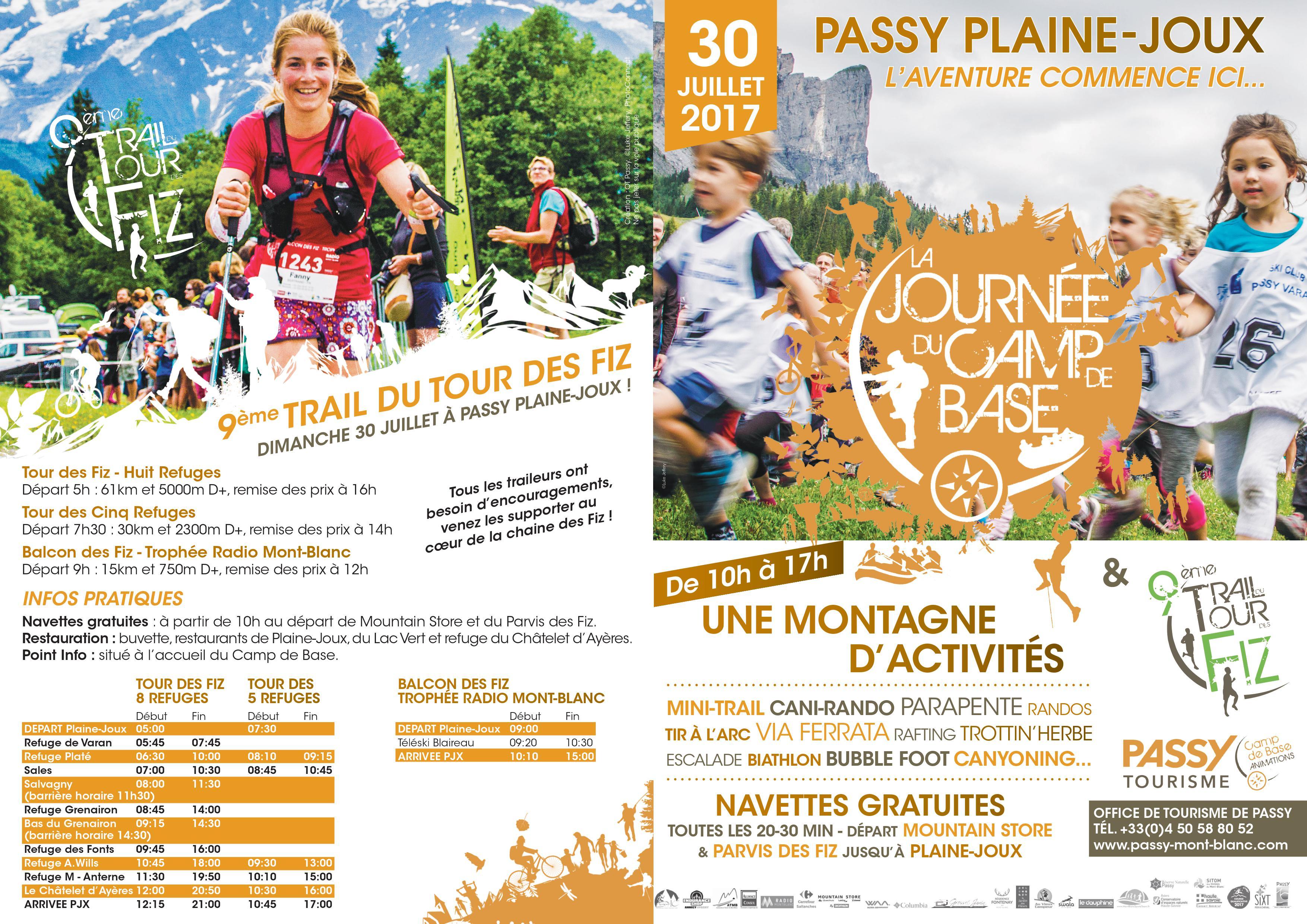 0001 10 - Journée du Camp de Base et 9ème Trail du Tour des Fiz 29/30-07-2017 : tout ce qu'il faut savoir !