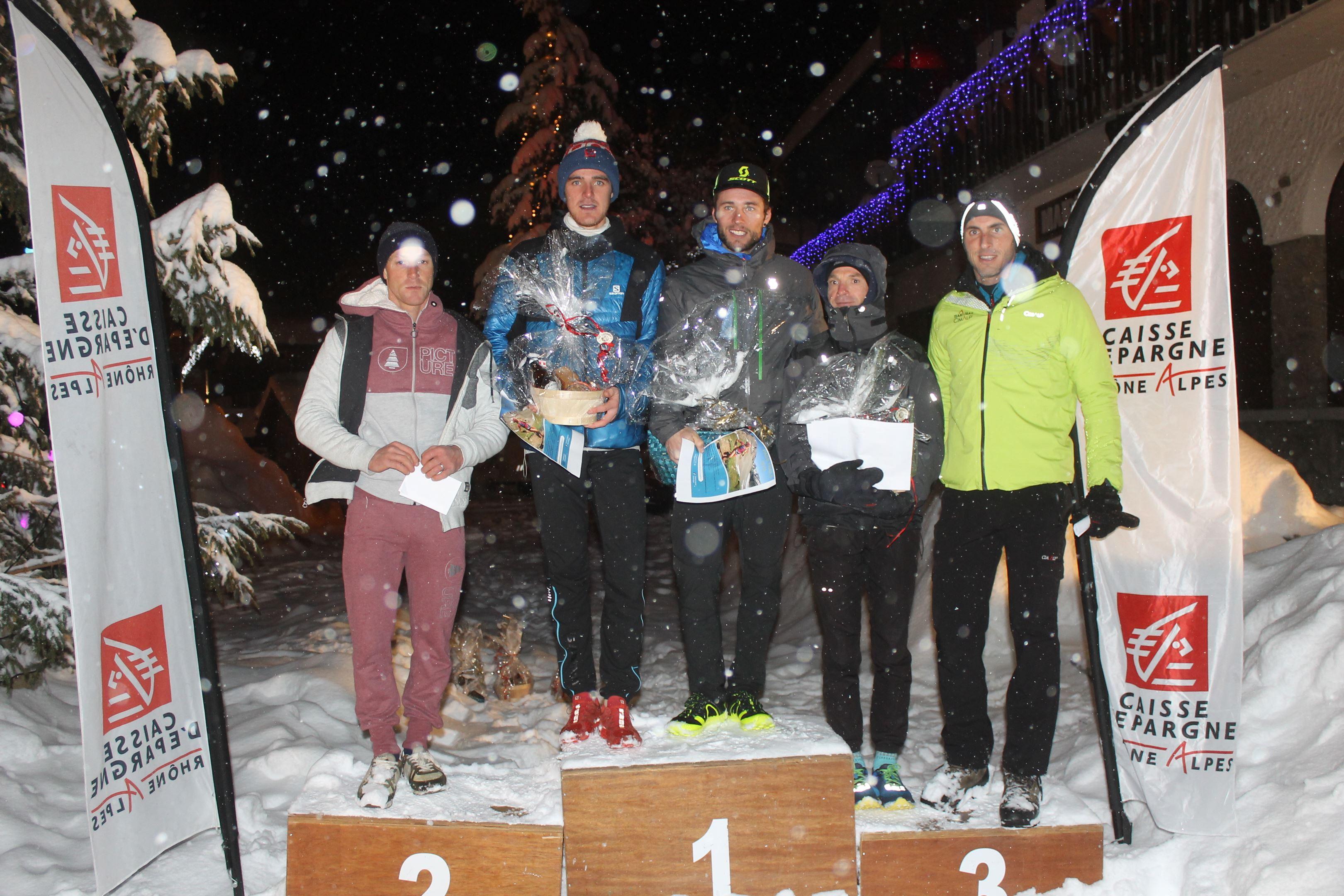 copie 0 podium hommes du 14km - RESULTATS ET COMMENTAIRES DU TRAIL DE L'INUIT (PRALOGNAN-LA-VANOISE 73) 20/01/2018