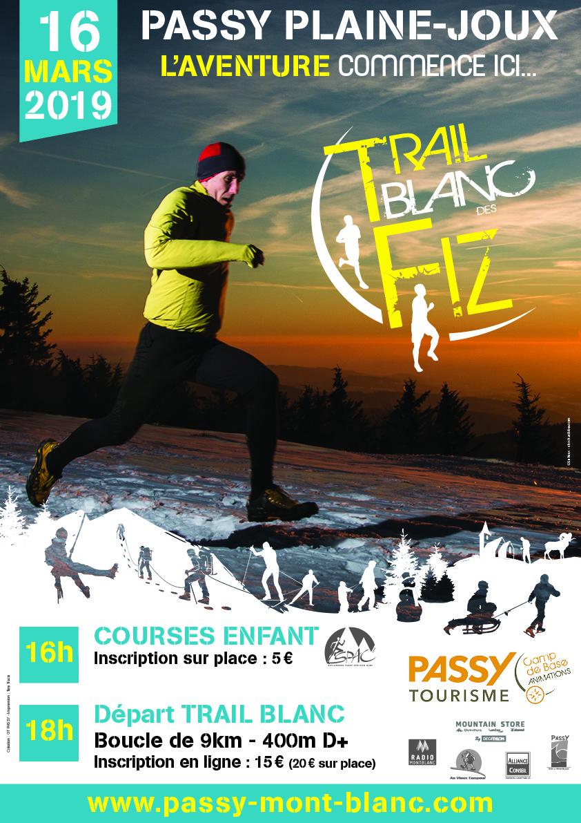 Affiche Trail Blanc des Fiz 2019 VF - NOUVEAUTÉ : TRAIL BLANC DES FIZ 1ERE EDITION 16/03/2019