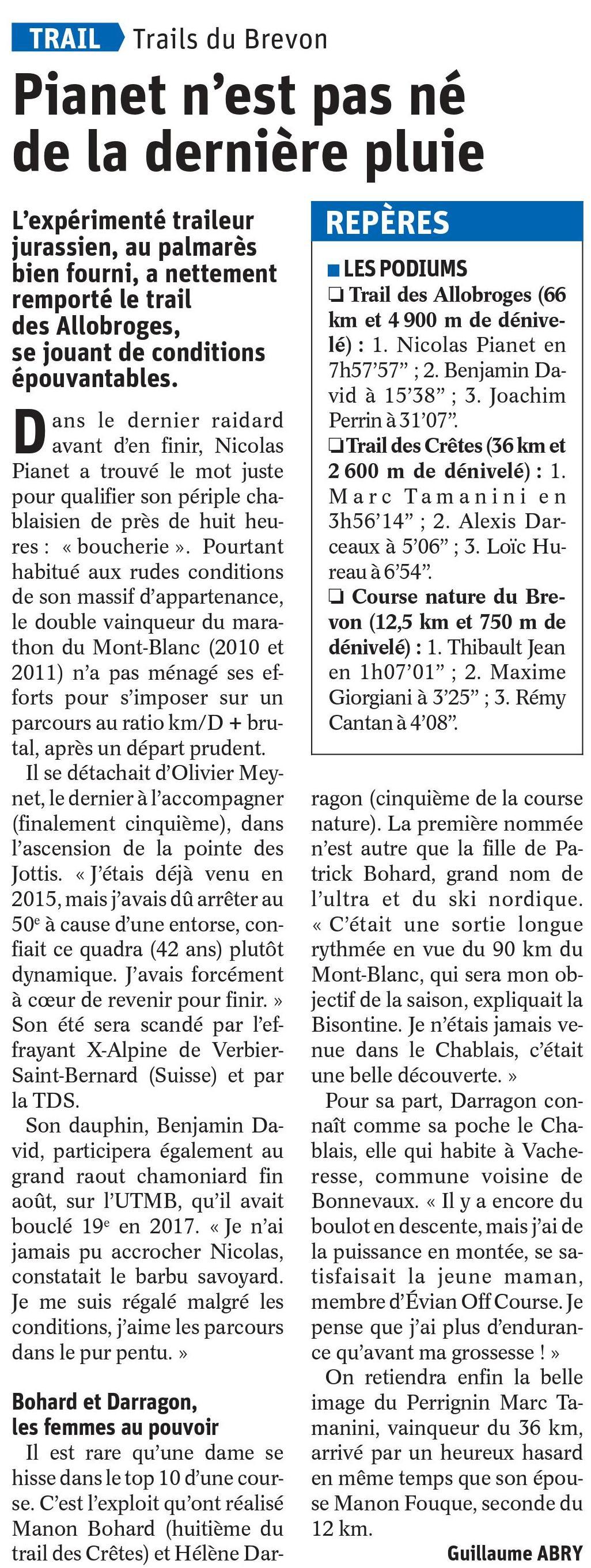 0001 - RESULTATS DES TRAILS DE LA VALLEE DU BREVON 09-06-2019 (BELLEVAUX74)