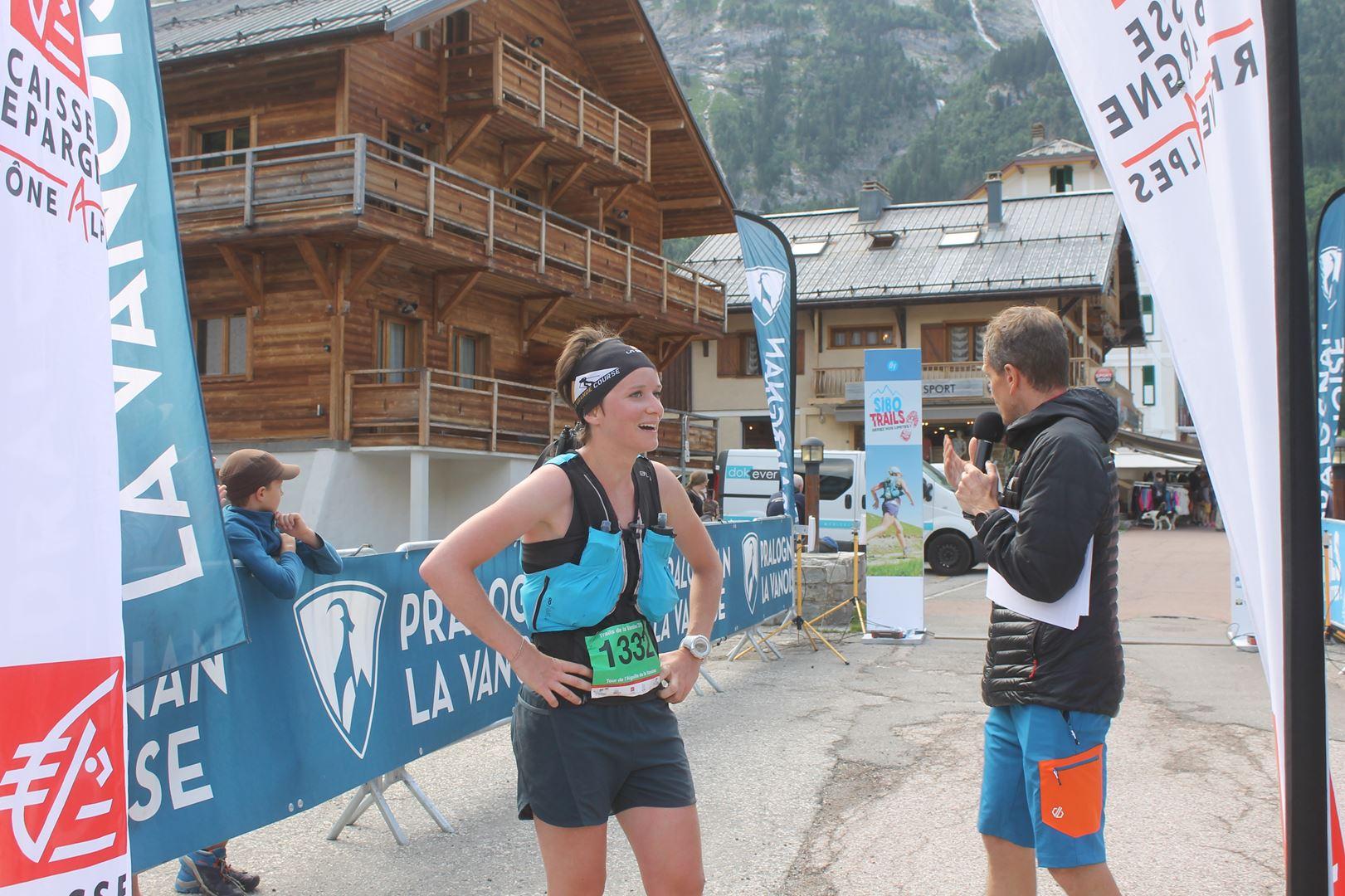ARRIVE DELAS NODET 1ere femme di 15km - BENJAMIN DAVID S'IMPOSE SUR LE TOUR DES GLACIERS DE LA VANOISE !  PRALOGNAN 07/07/2019