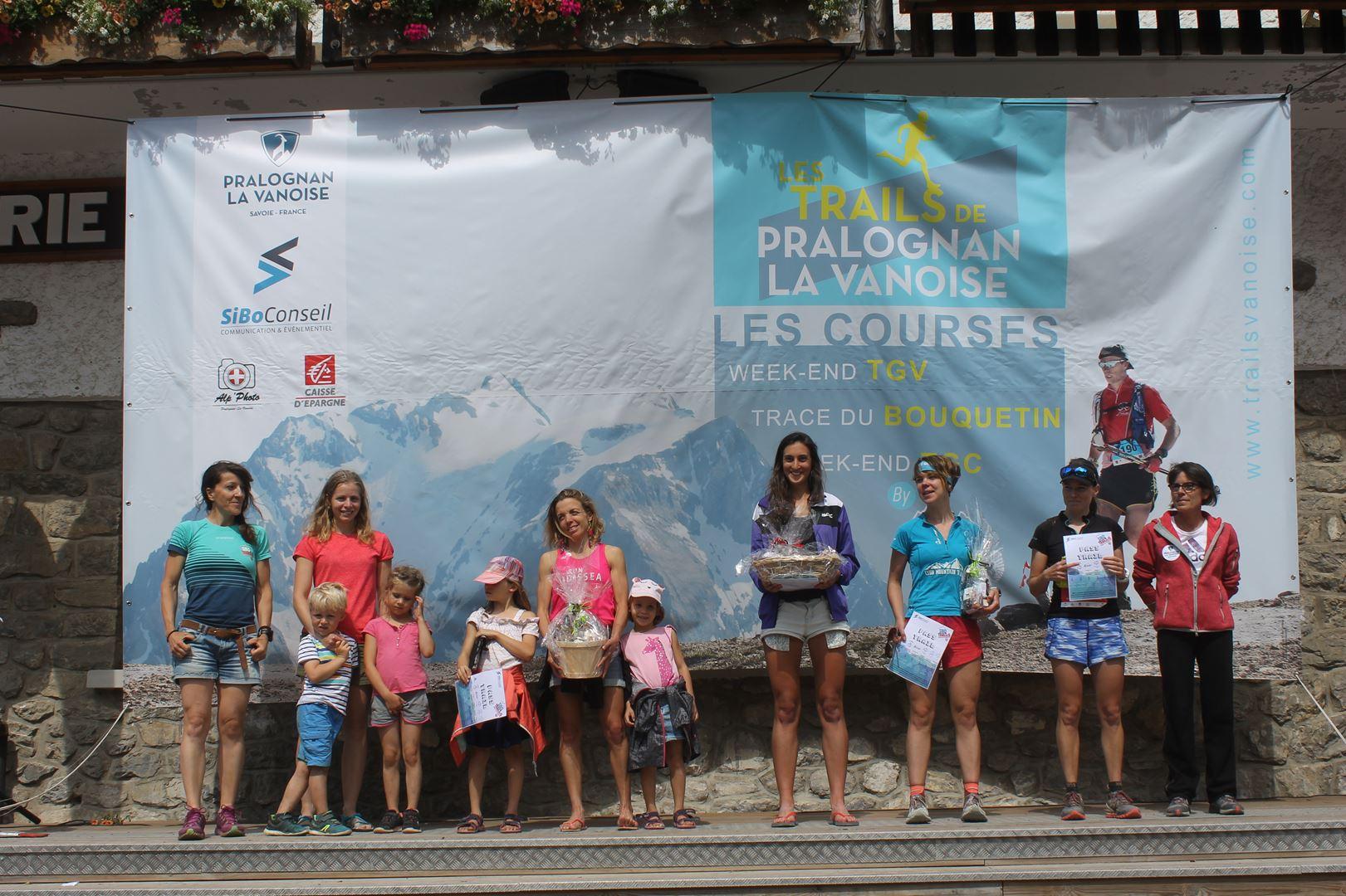podium femmes TGV 1 - BENJAMIN DAVID S'IMPOSE SUR LE TOUR DES GLACIERS DE LA VANOISE !  PRALOGNAN 07/07/2019