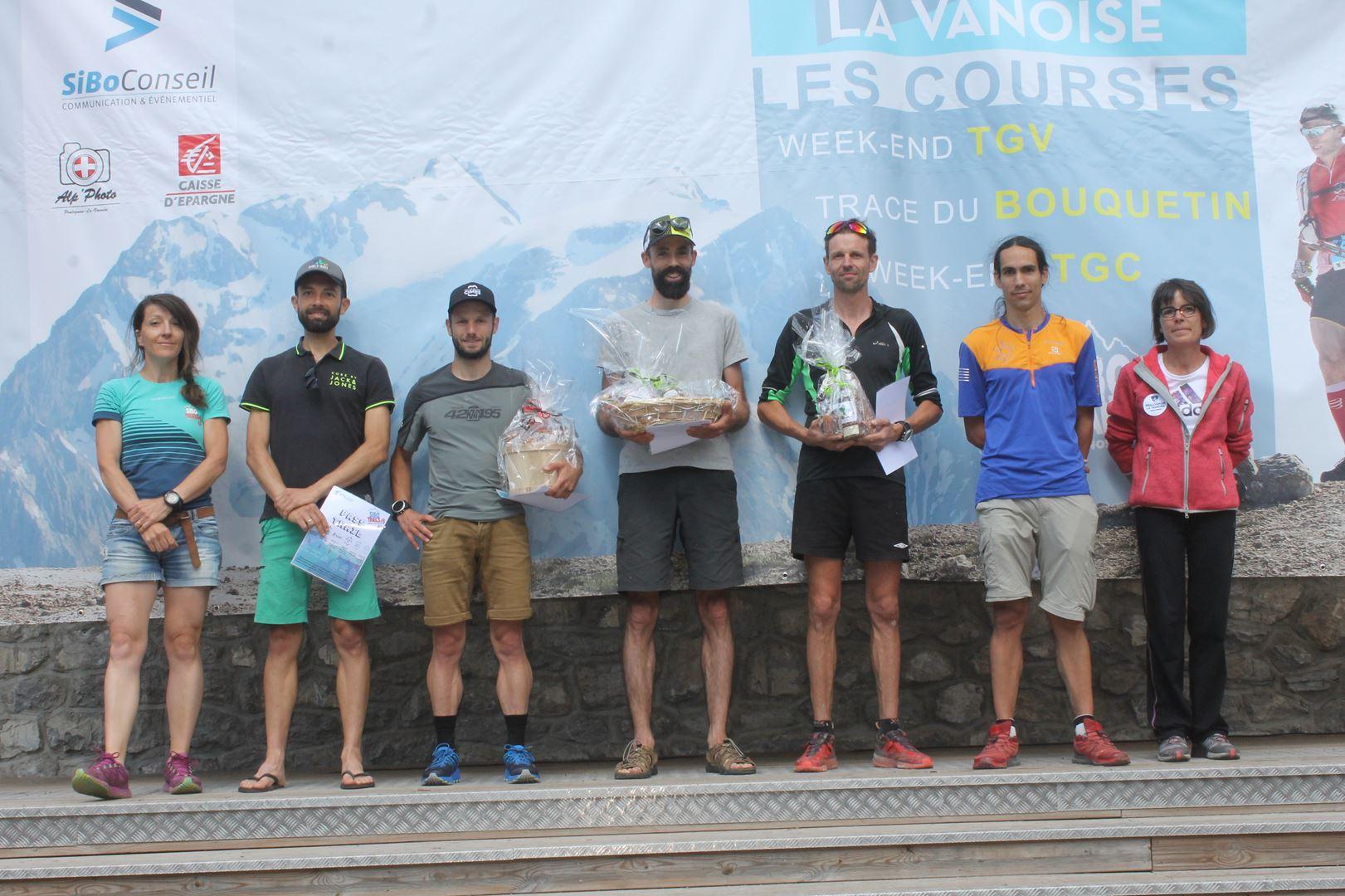 podium tgv hommes 1 - BENJAMIN DAVID S'IMPOSE SUR LE TOUR DES GLACIERS DE LA VANOISE !  PRALOGNAN 07/07/2019
