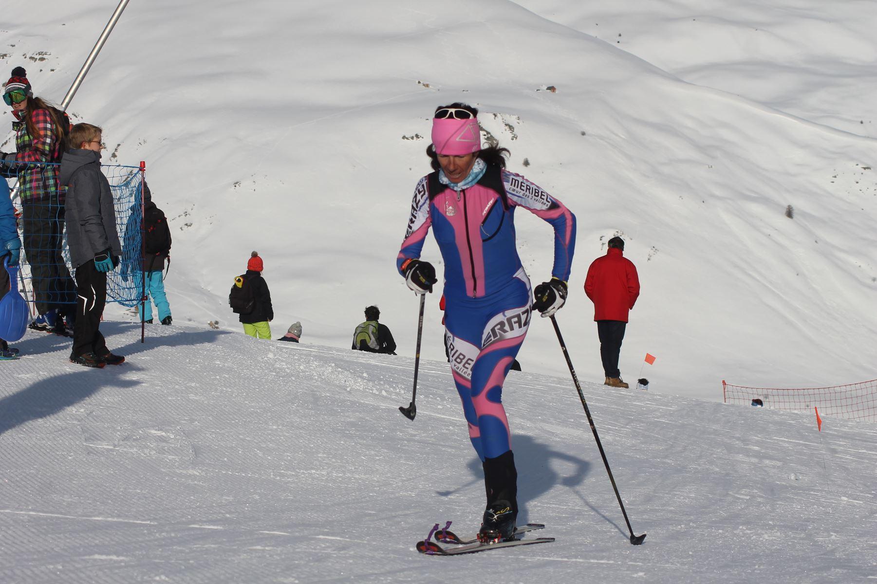 Corinne Favre 1ere femme - Résultats de la 3ème édition du Valloire Dynafit Vertical (ski alpi) 04/01/2020