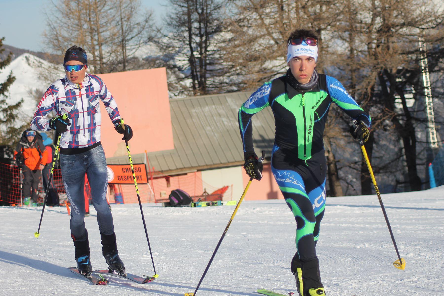 Gabin Argeron et Bastien Flammer 4eme et 5eme - Résultats de la 3ème édition du Valloire Dynafit Vertical (ski alpi) 04/01/2020