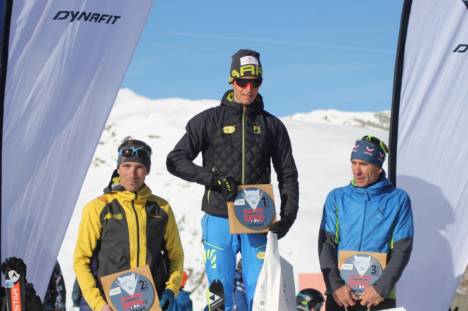 podium masculin - Résultats de la 3ème édition du Valloire Dynafit Vertical (ski alpi) 04/01/2020