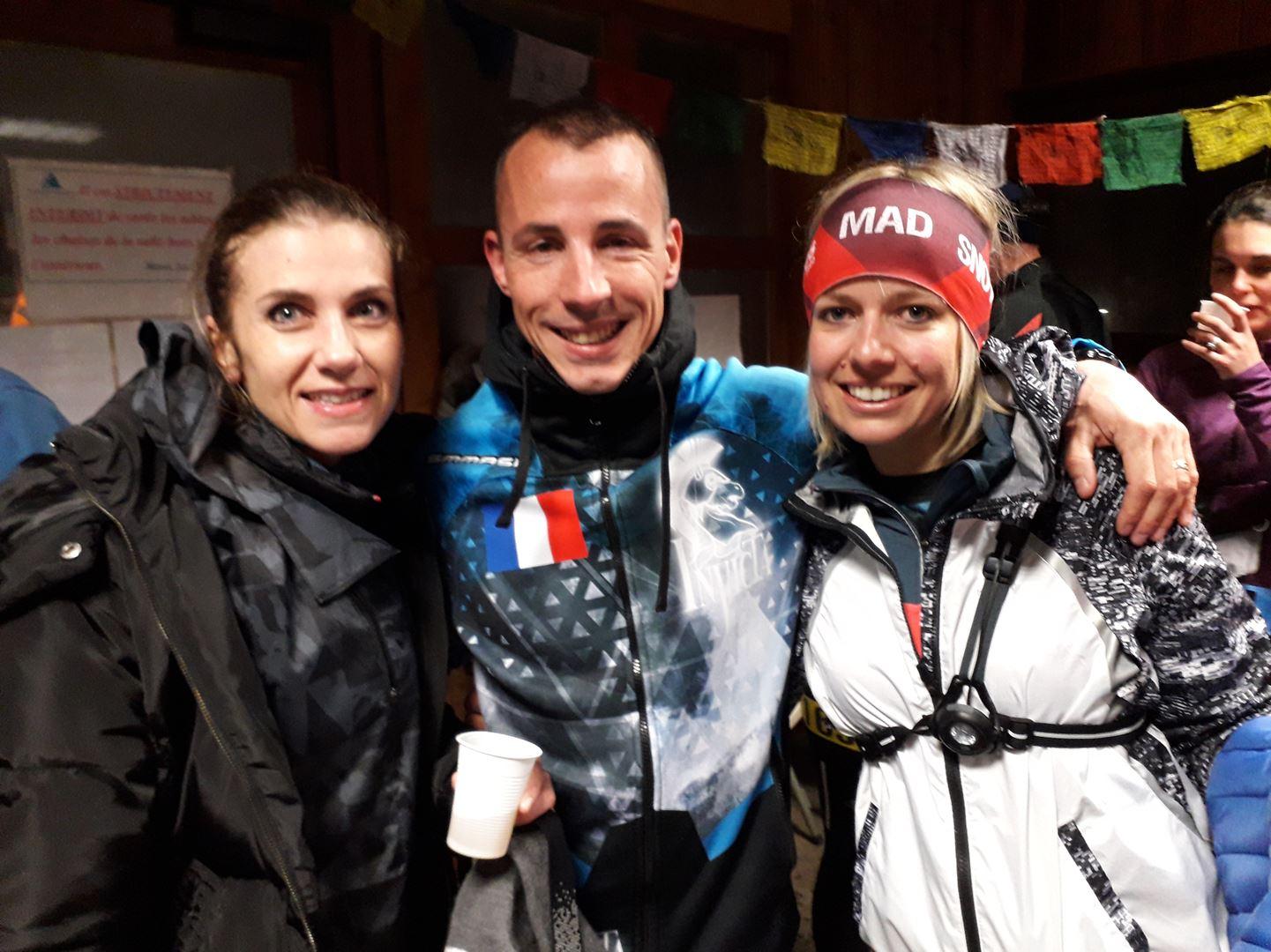 Aurélie Chrystelle et Jonathan - RESULTATS ET PHOTOS DU WINTER SIBOTRAIL LANS EN VERCORS (07/03/2020)