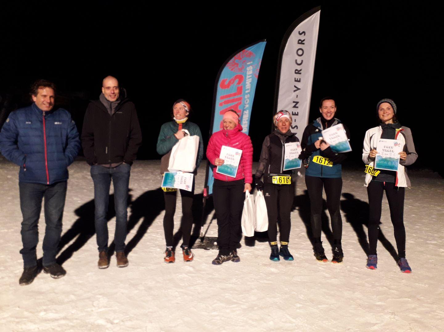 podium femmes 16km - RESULTATS ET PHOTOS DU WINTER SIBOTRAIL LANS EN VERCORS (07/03/2020)