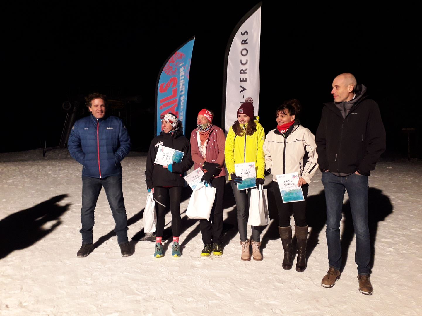 podium femmes 8km - RESULTATS ET PHOTOS DU WINTER SIBOTRAIL LANS EN VERCORS (07/03/2020)
