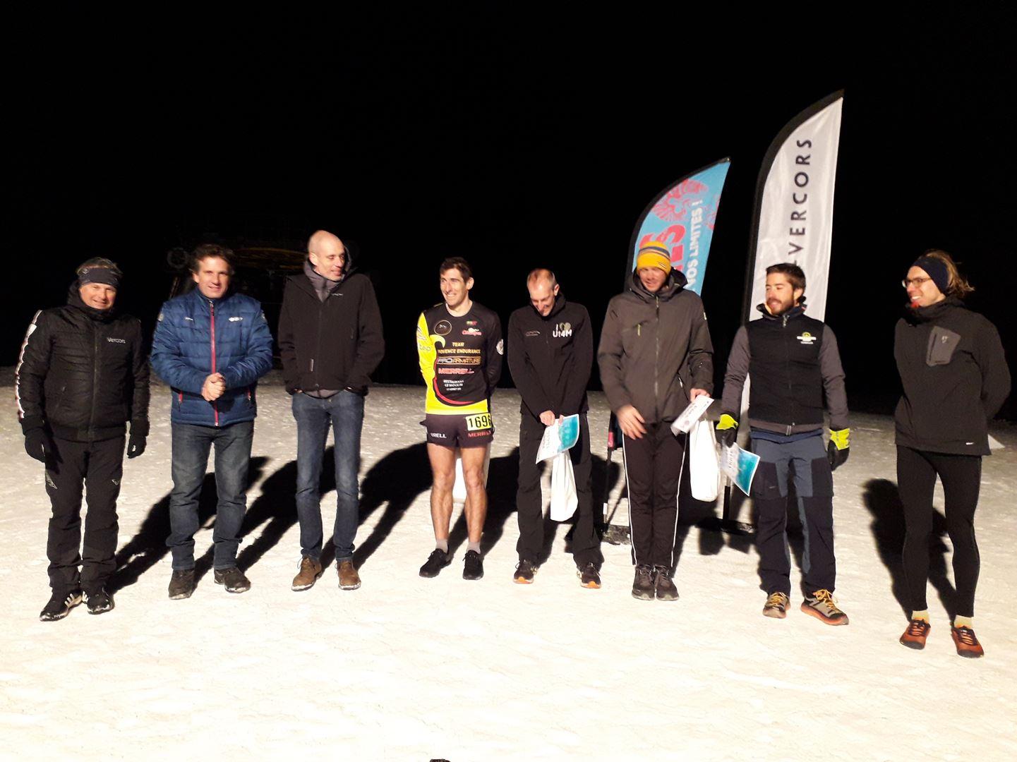 podium hommes du 16km - RESULTATS ET PHOTOS DU WINTER SIBOTRAIL LANS EN VERCORS (07/03/2020)