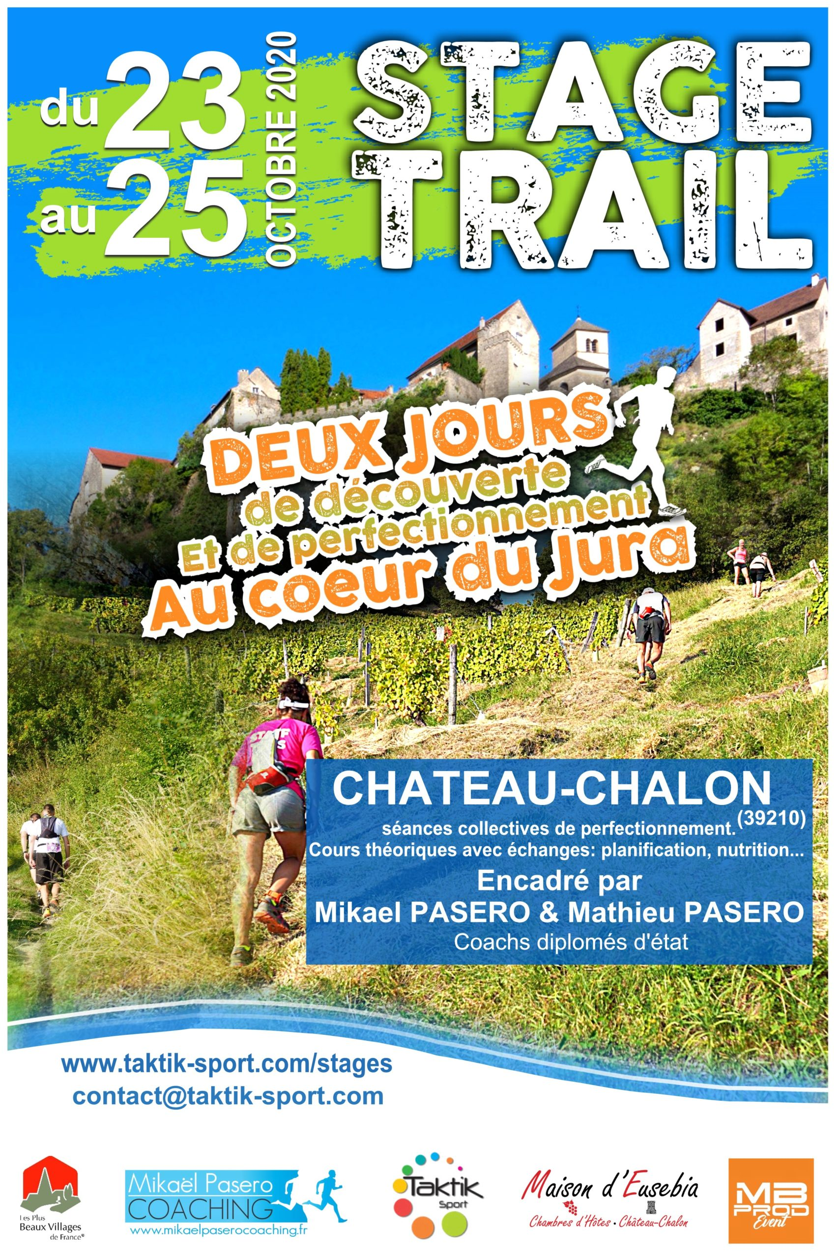 stage chateau chalon RECTO bis scaled - STAGE TRAIL AVEC MIKAEL ET MATHIEU PASERO 23-25 OCTOBRE 2020 JURA